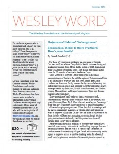 Wesley Word Cover Summer 2017