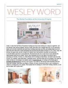 Wesley Word Cover Fall 2017